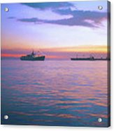 Sunset On Manila Bay Acrylic Print