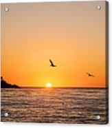 Sunset On Monterey Beach Acrylic Print