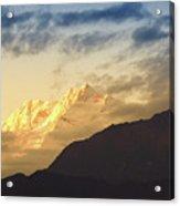Sunset On Mount Kanchenjugha At Dusk Sikkim Acrylic Print