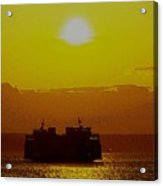 Sunset On Puget Sound Acrylic Print