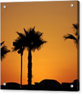 Sunset On Socal Beach Acrylic Print