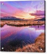 Sunset On Sparks Marsh Acrylic Print