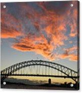 Sunset On Sydney Harbor Acrylic Print