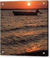 Sunset On The Bay Lavallette New Jersey  Acrylic Print