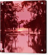 Sunset On The Bayou Atchafalaya Basin Louisiana Acrylic Print