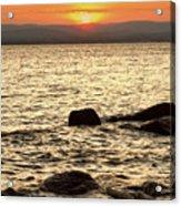 Sunset On The Beach Acrylic Print