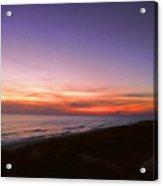 Sunset On The Beach At Cape San Blas, Florida Acrylic Print