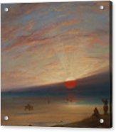 Sunset On The Beach At Sark Acrylic Print