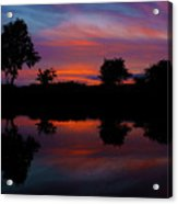 Sunset On The Bladnoch Acrylic Print
