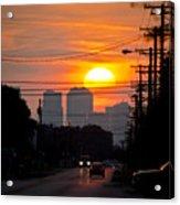 Sunset On The City Acrylic Print