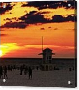 Sunset On The Clearwater Beach Acrylic Print