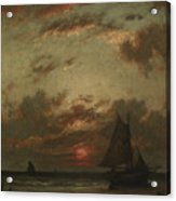 Sunset On The Coast Acrylic Print