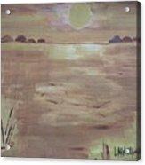Sunset On The Desert Acrylic Print