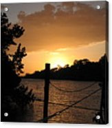 Sunset On The Dock II Acrylic Print