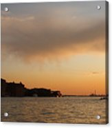 Sunset On The Edge Of Venice Acrylic Print