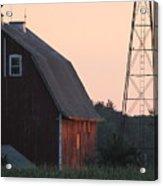 Sunset On The Farm Acrylic Print