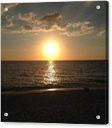 Sunset On The Gulf Coast Acrylic Print