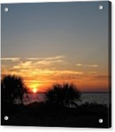 Sunset On The Gulf Of Mexico Acrylic Print