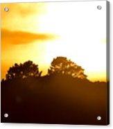 Sunset On The Hill Acrylic Print