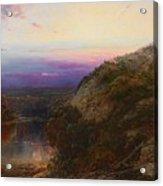 Sunset On The Hudson Acrylic Print