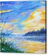 Sunset On The Lake Acrylic Print