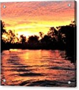 Sunset On The Murray River Acrylic Print