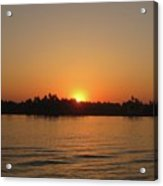 Sunset On The Nile Acrylic Print