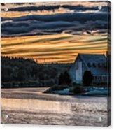 Sunset on The Old Stone Church Acrylic Print