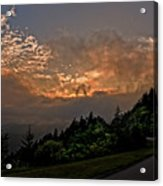 Sunset On The Parkway Acrylic Print