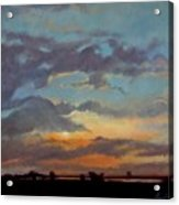 Sunset On The Prarie Acrylic Print