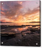 Sunset On The Rocks Acrylic Print