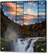 Sunset On The Upper Falls Acrylic Print