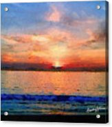 Sunset On The Water Acrylic Print