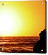 Sunset On Wall Beach Acrylic Print