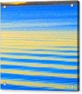 Sunset On Waves Acrylic Print
