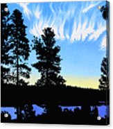 Sunset On Wickiup Acrylic Print