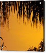 Sunset Orange After Storm Acrylic Print