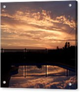 Sunset Over A Pool Acrylic Print
