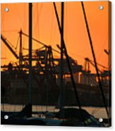Sunset Over Alameda Harbor Acrylic Print