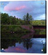 Sunset Over Amoonoosuc River Acrylic Print