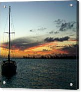 Sunset Over Anegada Acrylic Print