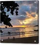 Sunset Over Ao Nang Beach Thailand Acrylic Print