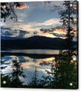 Sunset Over Arrow Lake Acrylic Print