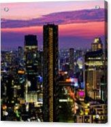 Sunset Over Bangkok Acrylic Print