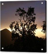 Sunset Over Benog Hill Acrylic Print