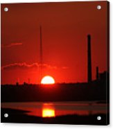 Sunset Over Bridgeport Acrylic Print