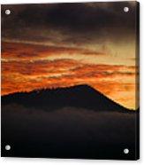 Sunset Over Cataloochee Valley Acrylic Print