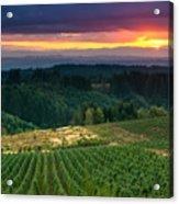 Sunset Over Central Oregon 4 Acrylic Print