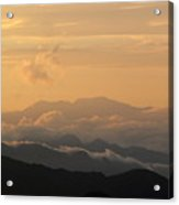 Sunset Over Chakrata Hills 5 Acrylic Print