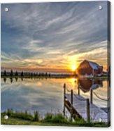 Sunset Over Country Farm Acrylic Print